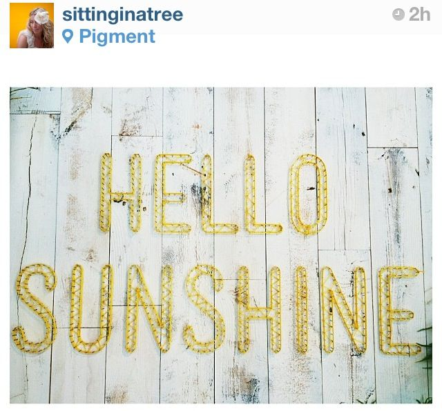 String art Hello Sunshine!