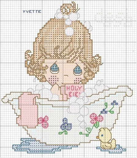 Schema punto croce pm fare il bagno craftspaperandcross cross stitch music cross stitch - Botero il bagno ...