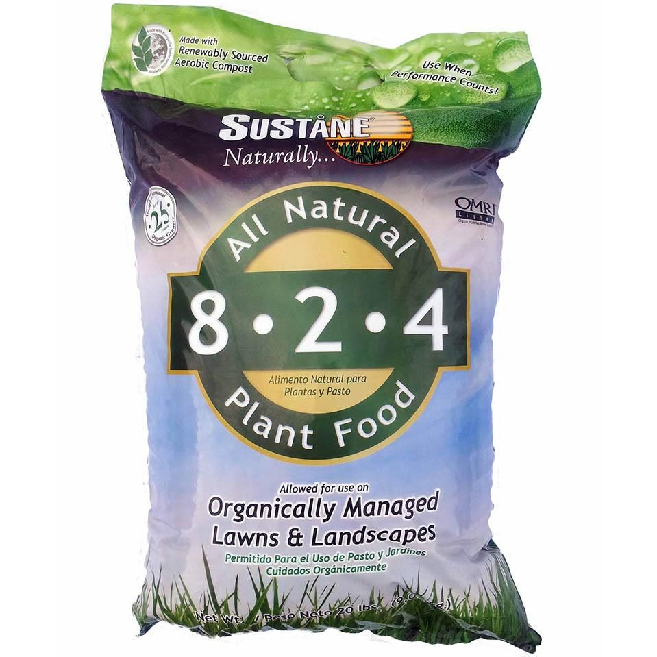 Sustane 8 2 4 All Natural Lawn Landscape Plant Food Organic