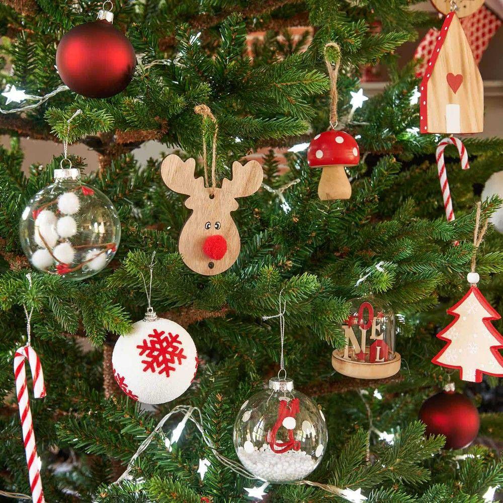 Decorazione Di Natale Campana Da Appendere H 9 Cm Glass
