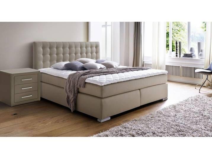 Photo of Cheap box spring bed 180×200 cm in H2, brown – Taimea – BETTEN.de