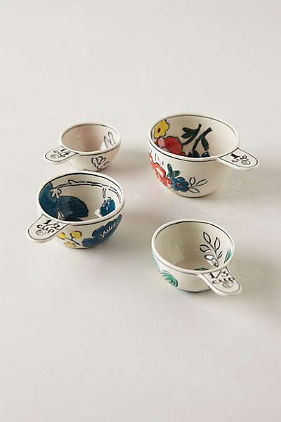 Anthropologie - Garden Sketch Measuring Cups