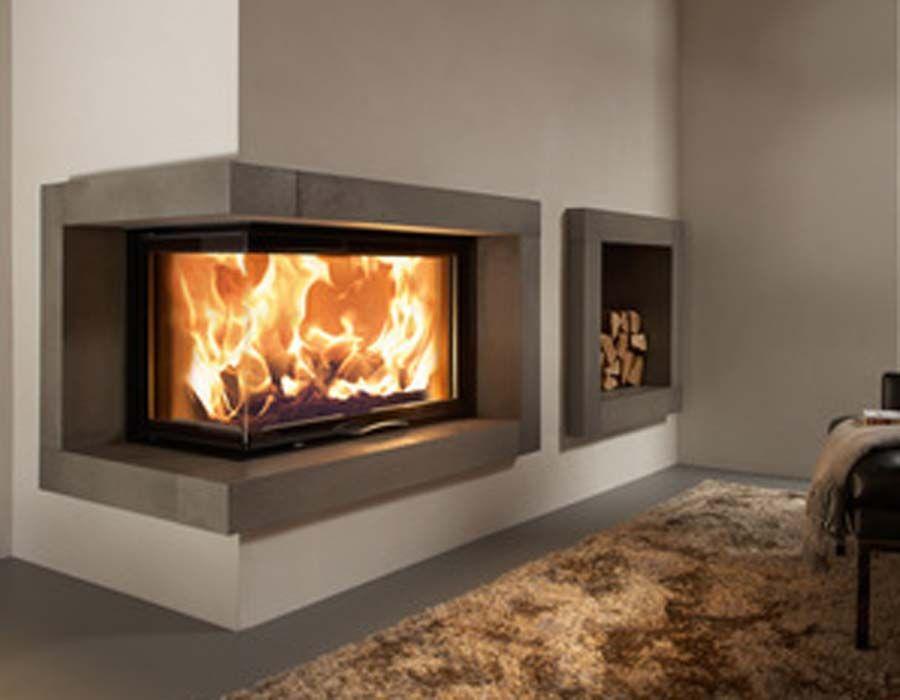 cheminee insert de coin salon modern wood burning. Black Bedroom Furniture Sets. Home Design Ideas