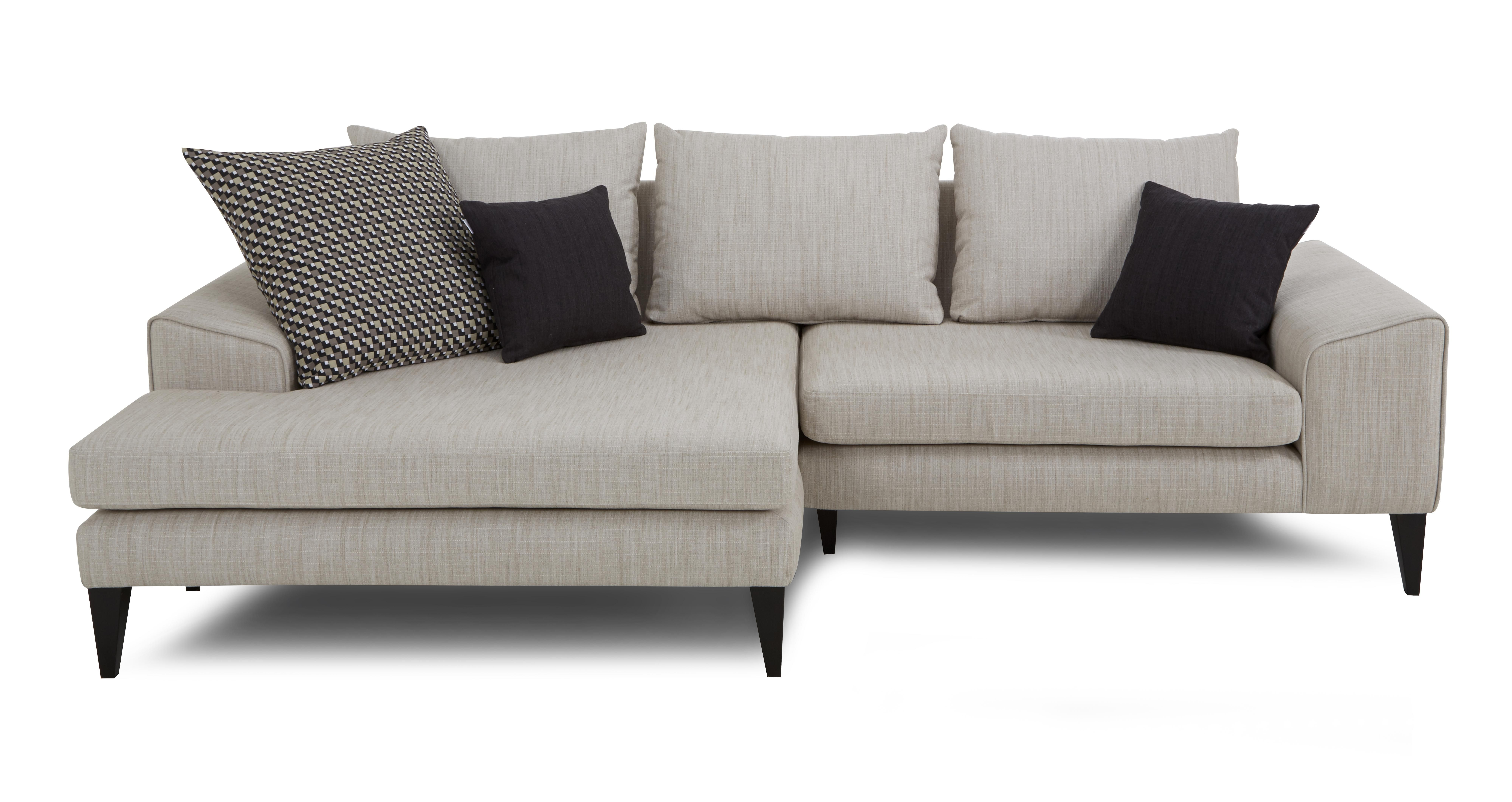 DFS Sorbet Right Hand Facing 4 Seater Lounger Sofa