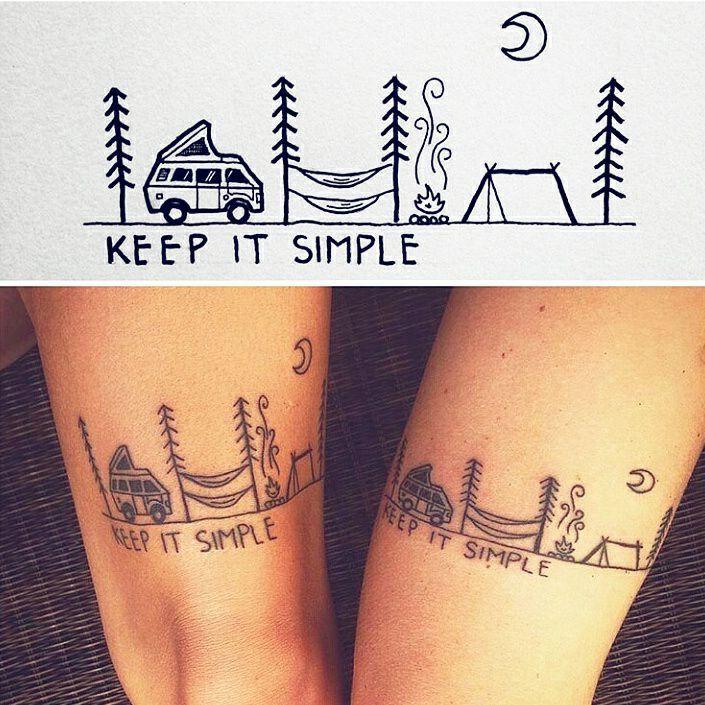 Keep It Simple Tattoos Hiking Tattoo Camping Tattoo
