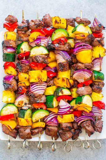 Grilled Steak Kabobs Recipe | Yummly #grilledsteakmarinades