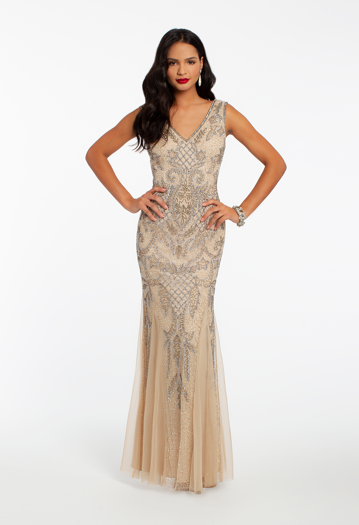 ... evening gown to rock to your next black-tie invite  Look no further.  This delicately detailed wedding guest dress features a V-neckline a096e777d