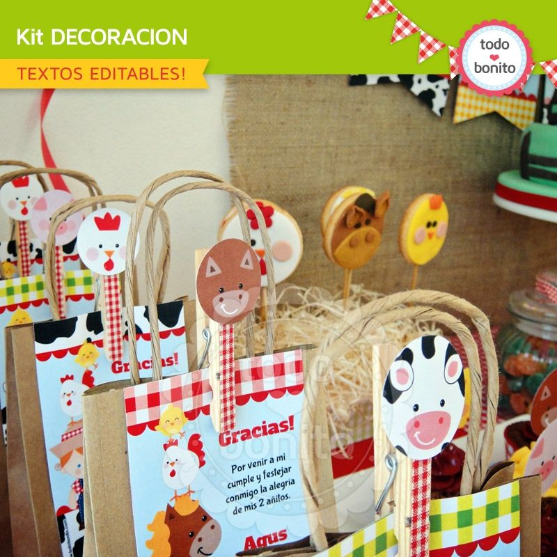 Granja Decoracion De Fiesta Para Imprimir Granja Farm Birthday