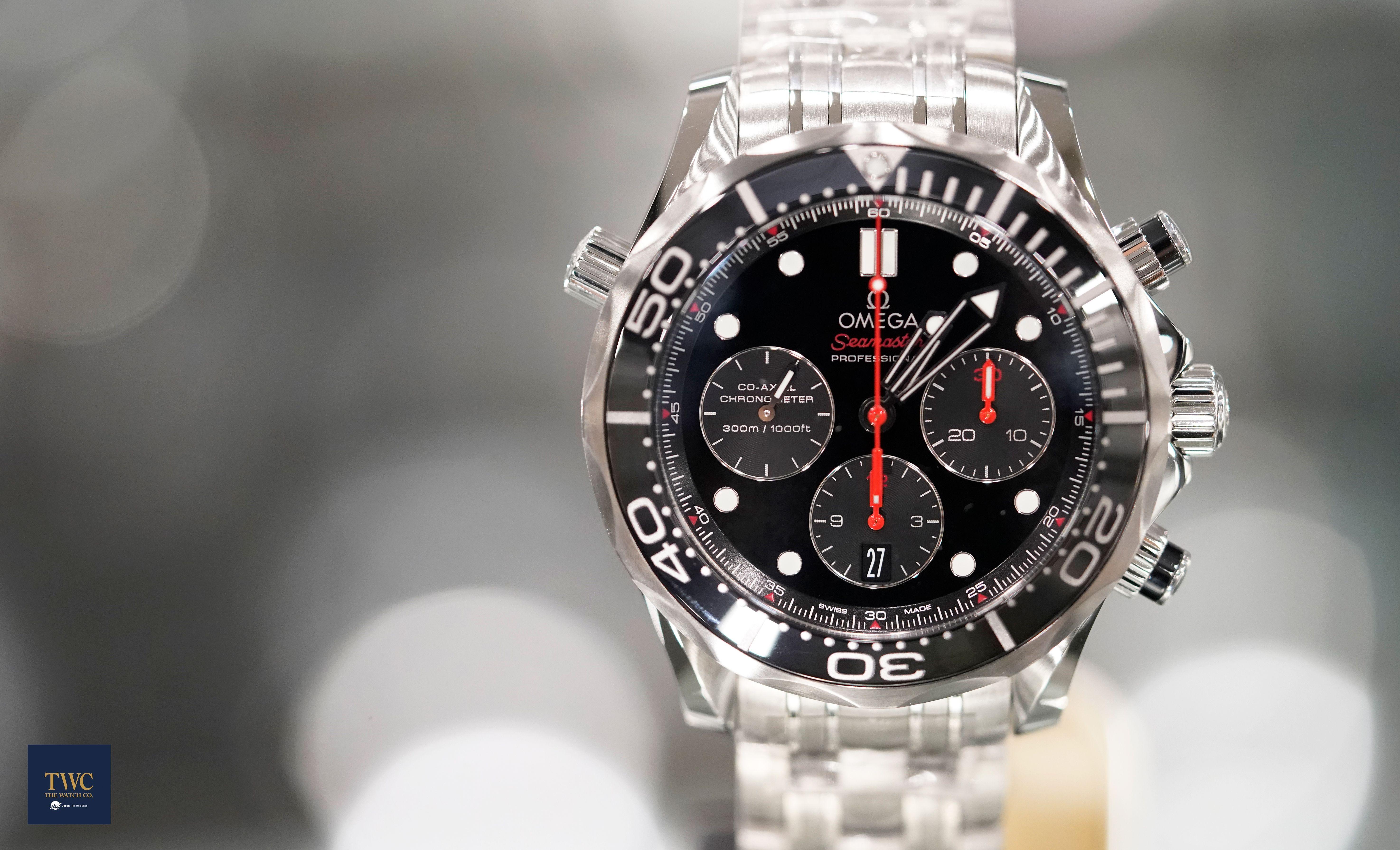 665ebb45c Reference 212.30.44.50.01.001 Omega Seamaster Seamaster Diver 300m  Chronograph Black Steel 44mm