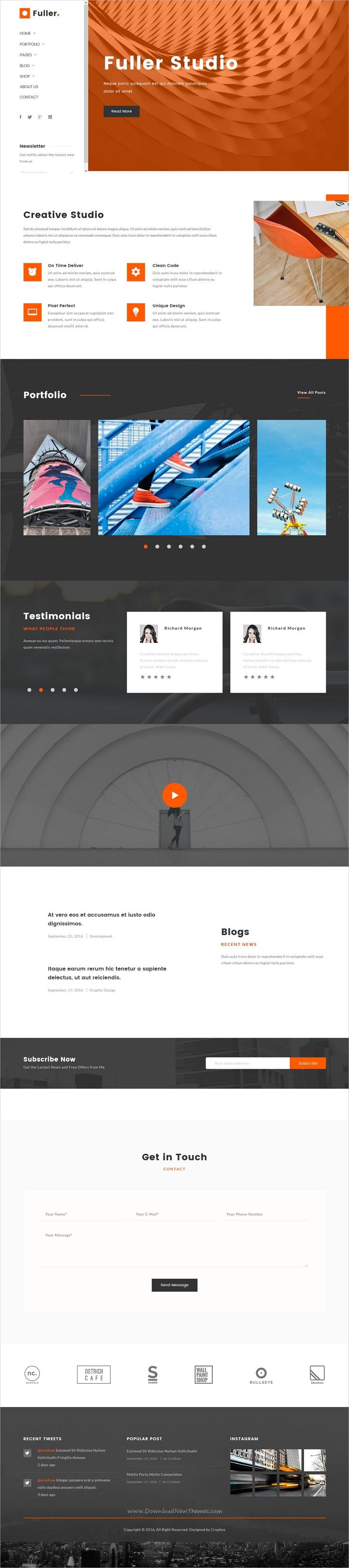 Resume Html Template Fuller  Creative Portfolio Resume & Agency Html Template