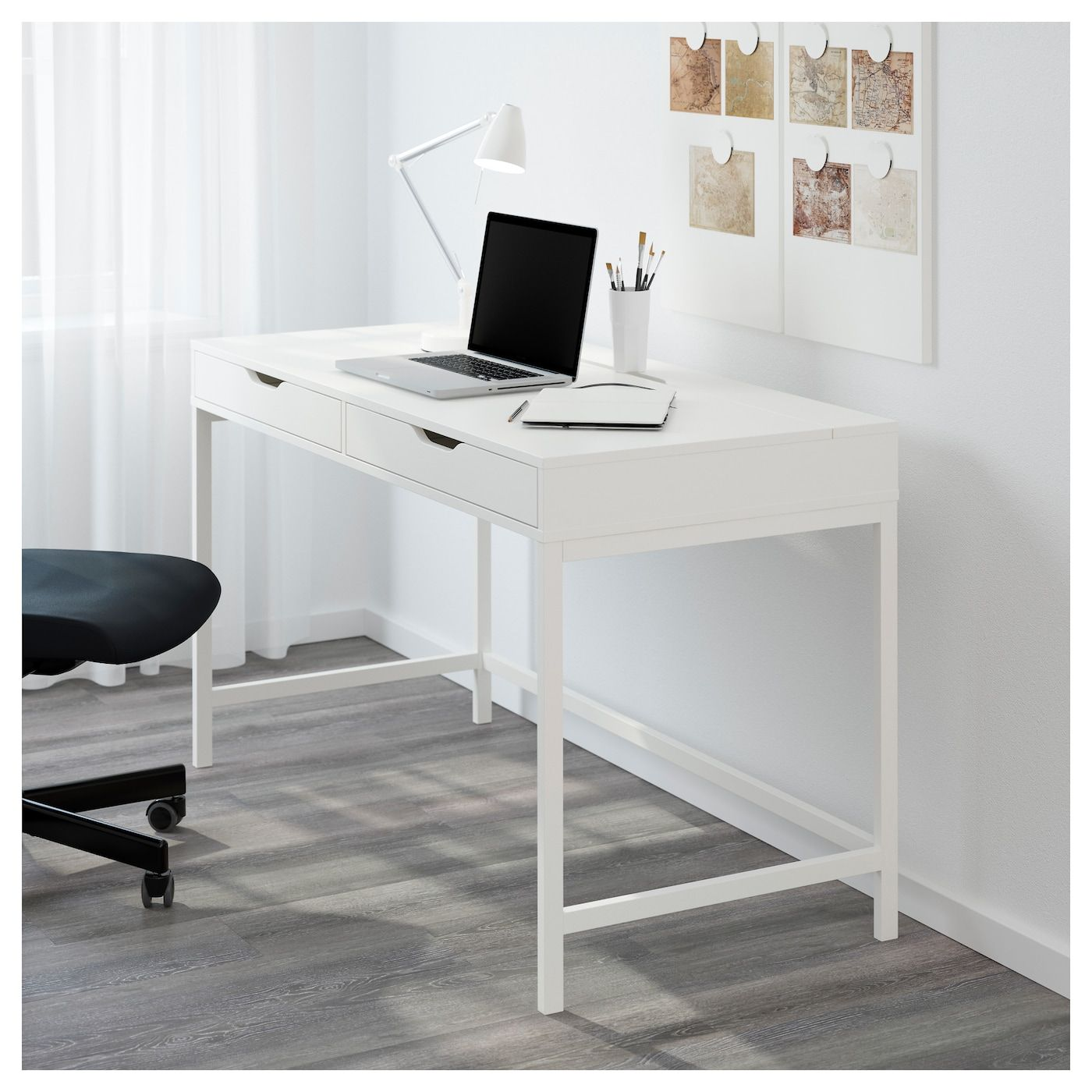 IKEA ALEX White Desk Ikea alex desk, Home office
