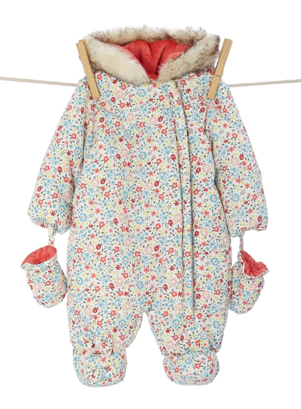 6854a1465 Baby Girls Ditsy Floral Snowsuit | MY DESIGNS | BLOG BITS! | Ditsy ...