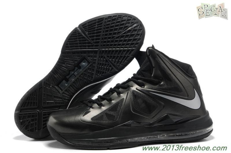 Nike Lebron X (10) Anthracite Black Silver Style 541100-001 Sale Online