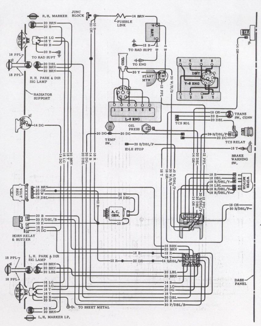 68 chevelle starter wiring diagram