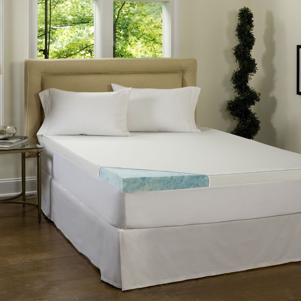 Comforpedic Loft From Beautyrest 4 Inch Gel Memory Foam Mattress Topper  With Wat