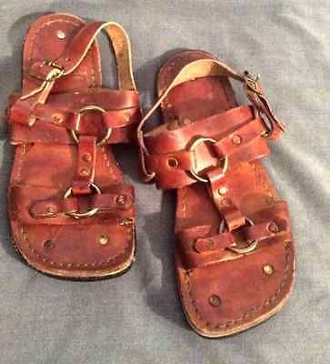 vintage hippie tire tread earth sandals m8 w10 leather