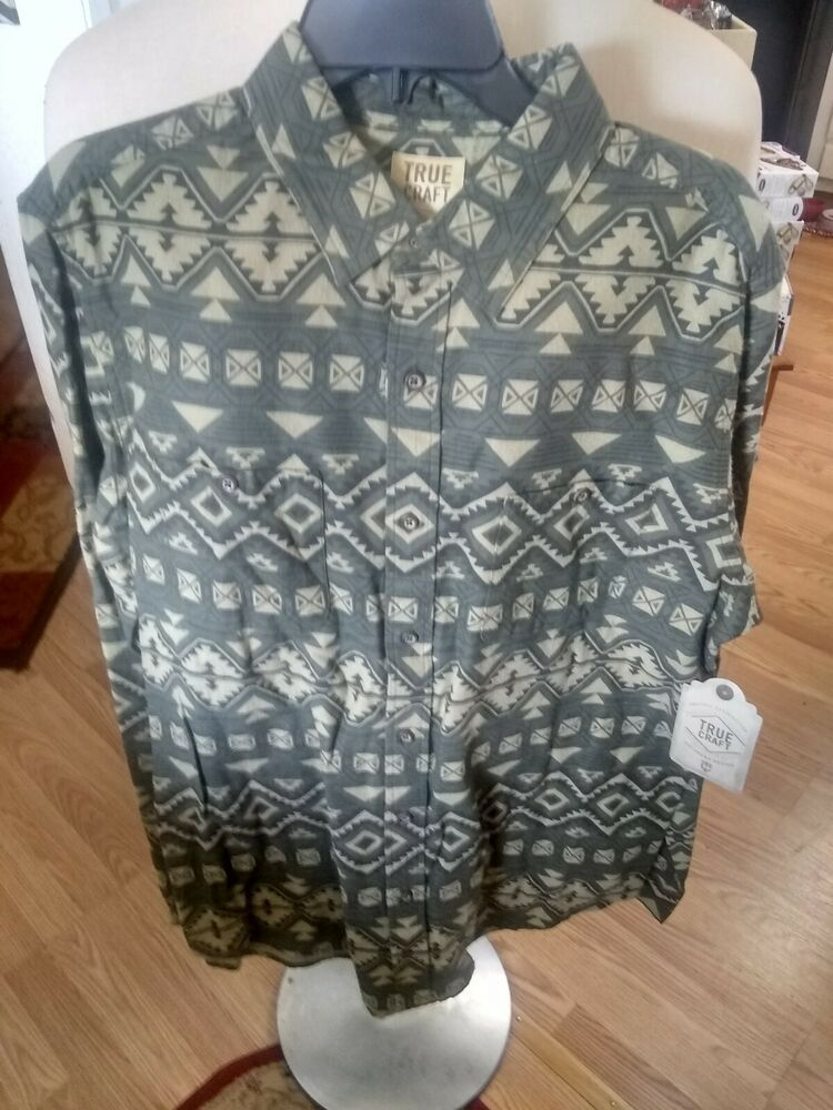 MENS GREY VEST TOP WITH AZTEC PRINT FROM TG IN SIZE LARGE