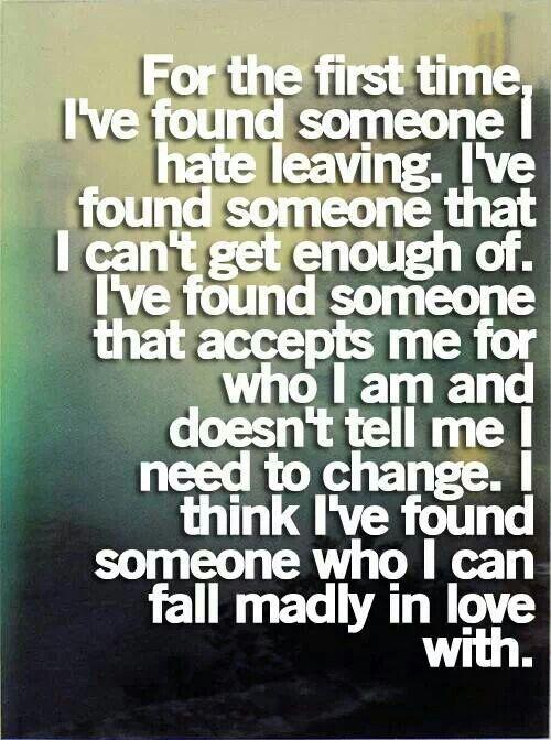 Falling in love.