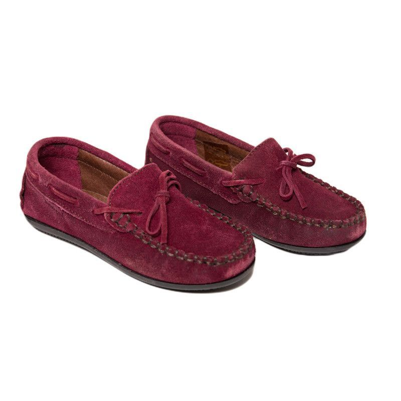 12776ac306b Suede Driving Loafers In Burgundy