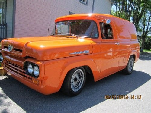 1960 FORD F-100 PANEL TRUCK STREET ROD, image 14
