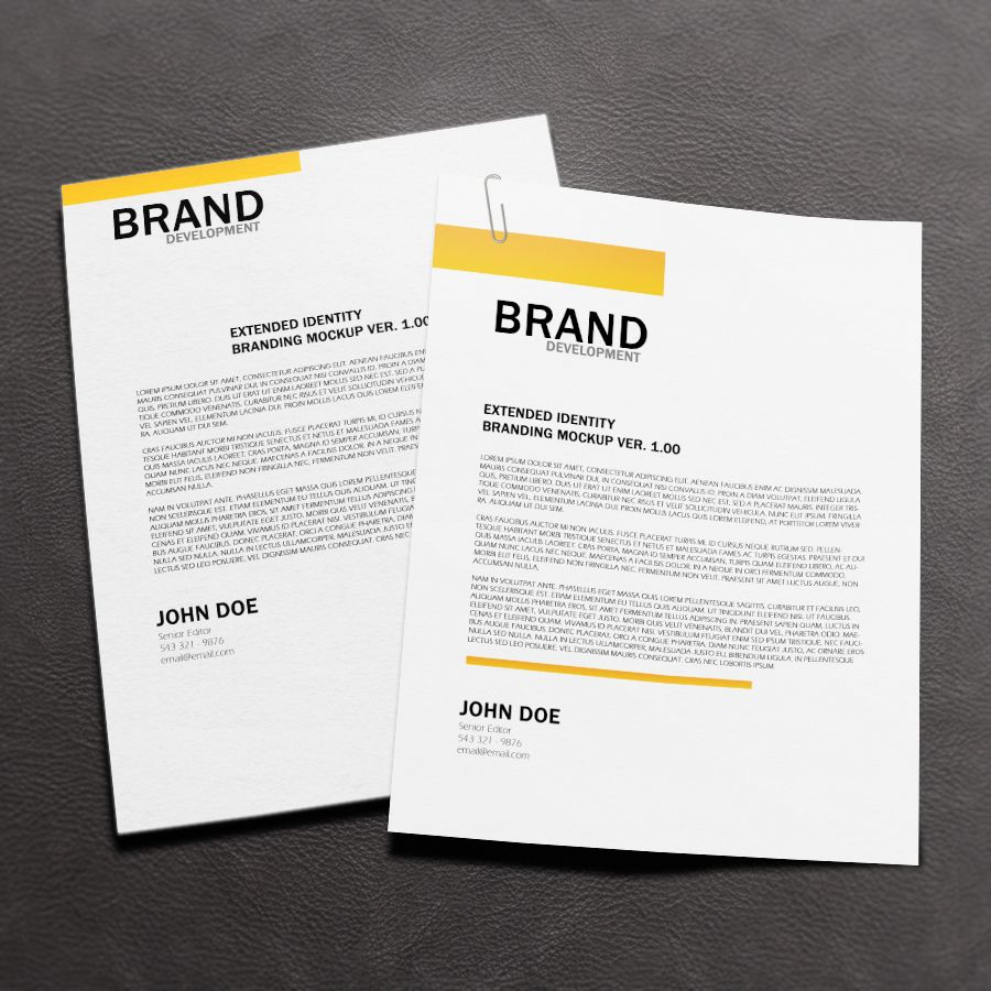 Free Letterhead Mock Up Mockup Presentation Print Psd Resource Showcase Template