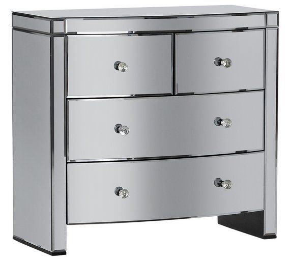 detailed pictures b222c f3d2a Buy Heart of House Canzano 4 Drawer Mirrored Chest at Argos ...