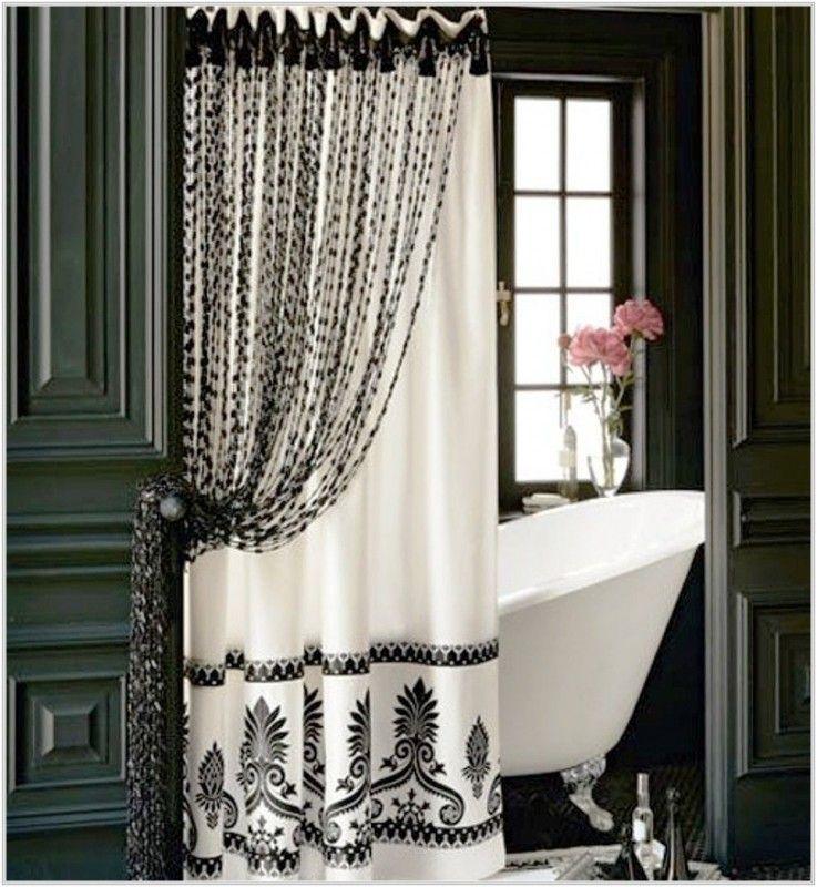 Tie Back Shower Curtains Ideas On Foter Elegant Shower