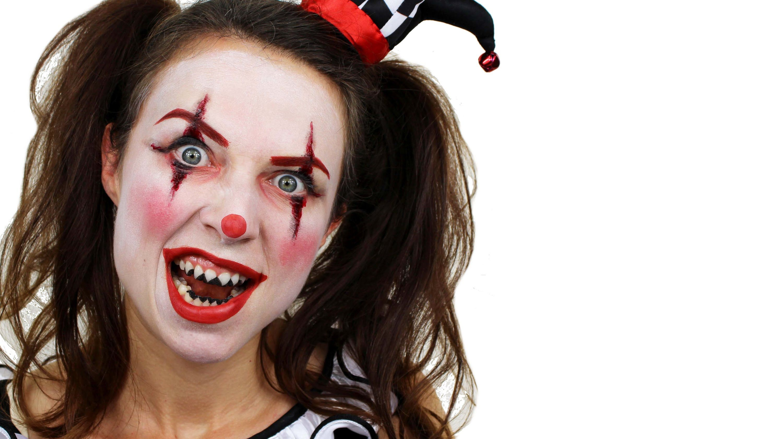 Scary Clown Makeup Tutorial Halloween Face Paint Scary