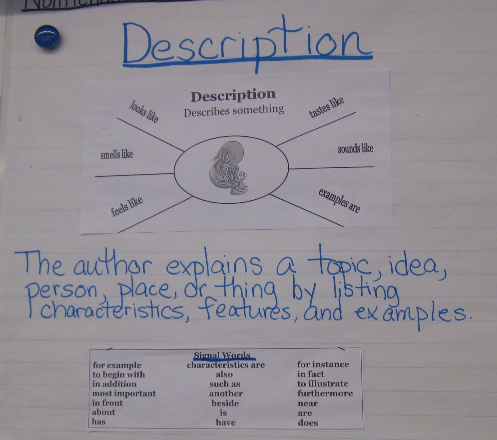 text features anchor chart pdf