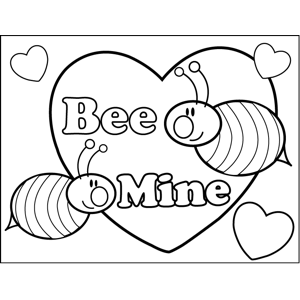 Bee Mine Valentine Printable Coloring Page Free To Download And Print Two Bees Buzz Valentine Coloring Pages Valentines Day Coloring Page Bee Mine Valentine