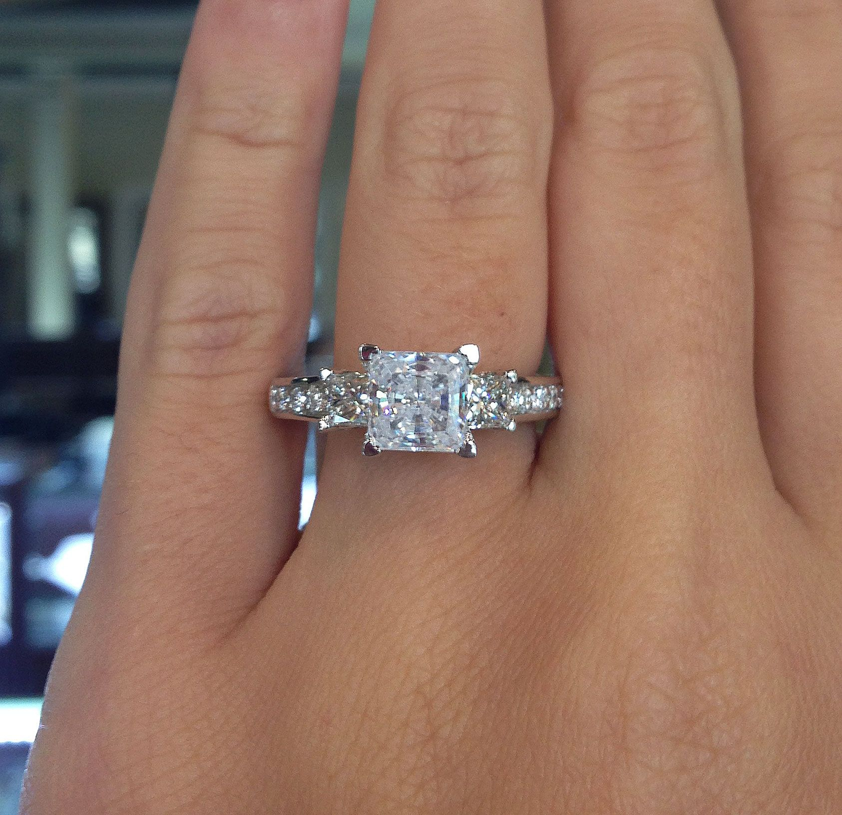 Verragio PARADISO 3064P Princess Cut Engagement Ring Setting