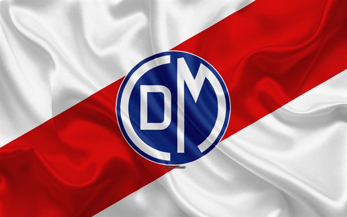 Download wallpapers Deportivo Municipal, 4k, logo, silk