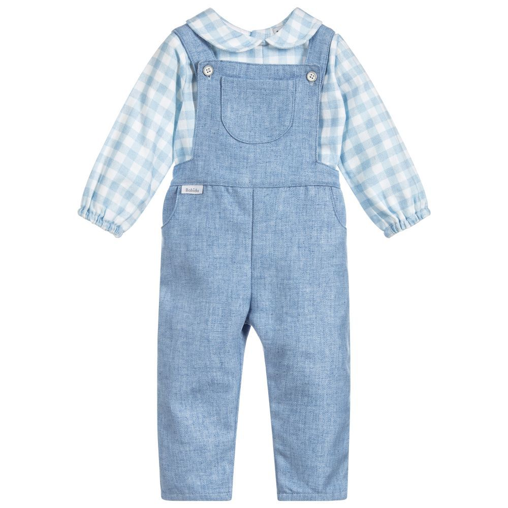 fair price vast selection big collection Blue Cotton Dungaree Set | Boy's Wardrobe | Dungarees ...