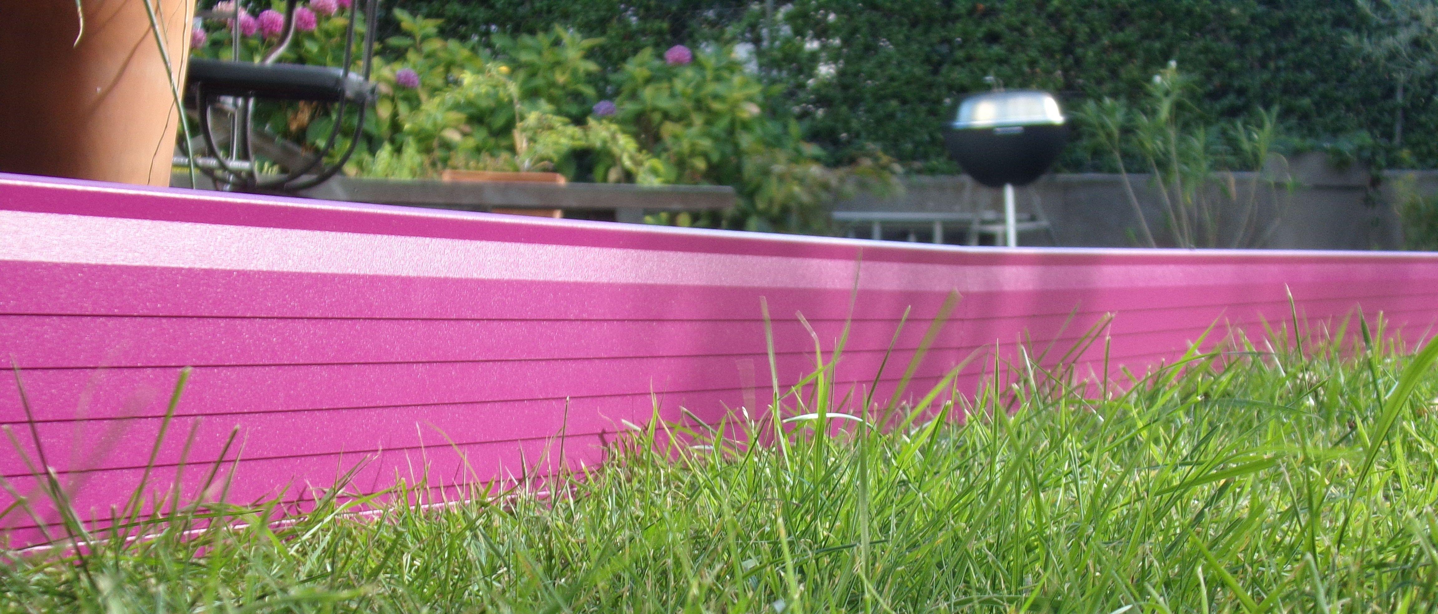 Bordure De Jardin En Aluminium Laque Ral 4008 Teinte Sur Demande