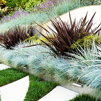 24 surprising plant combos graph paper grasses and concrete for Planting schemes with grasses