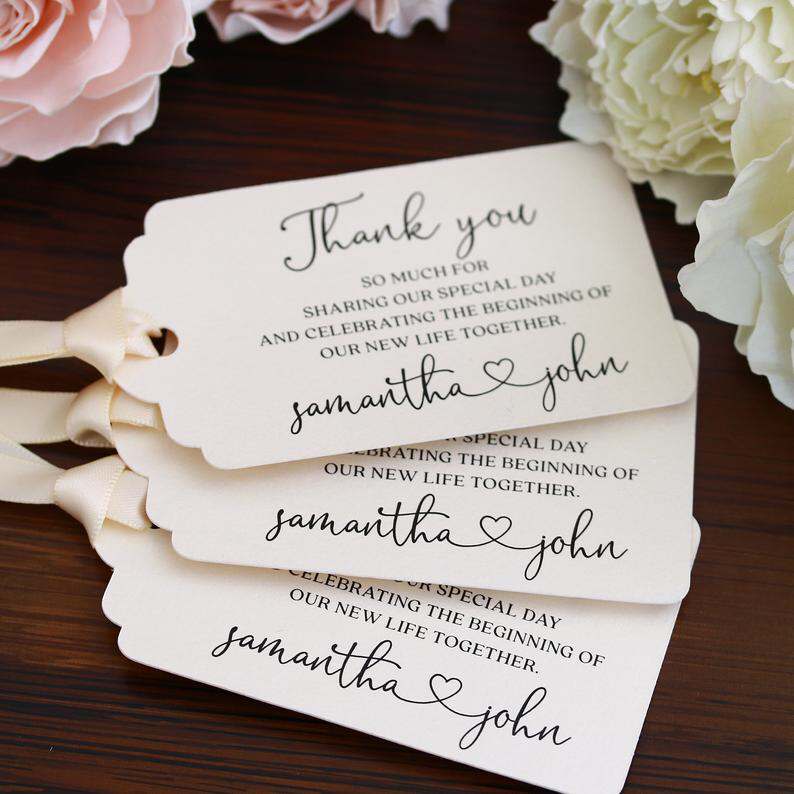 Personalized Wedding Tags Wedding Favors Custom Gift Tags Etsy In 2020 Personalized Wedding Gift Tags Wedding Favor Gift Tags Wedding Favor Tags