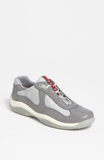Prada  America s Cup  Mesh   Leather Sneaker (Men) available at  Nordstrom 08bb4ffbb6c