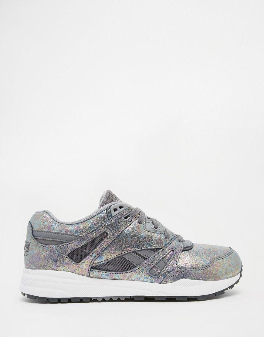 5de7be86c4301 Reebok Ventilator Iridescent Silver Sneakers