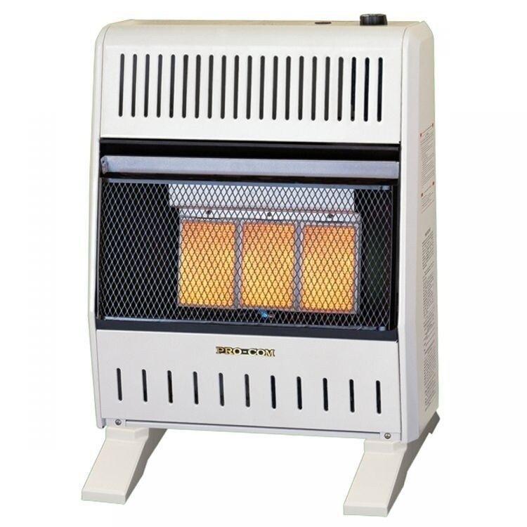 Dual fuel ventless infrared heater 20000 btu