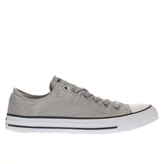 b1051f0b2a37 ... wholesale womens grey converse all star kent wash ox trainers schuh  96718 80689