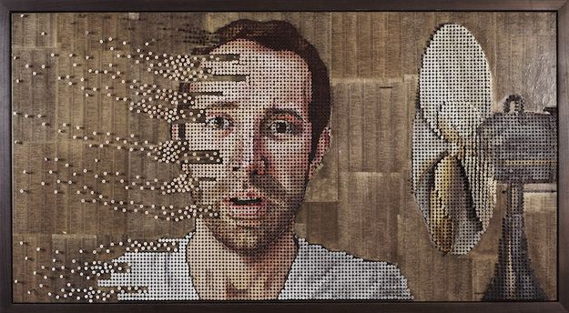 Amazing Art Made From Screws Artist Andrew Myers uses colored screws to  create depth and motion in his stunning portraits.
