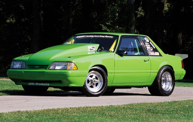 Green Ford Mustang Lx Foxbody Coupe Drag Racing Car Foxbody Lx