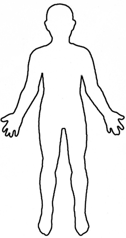 Human Body Outline Printable Human Body Outline Printable  Body