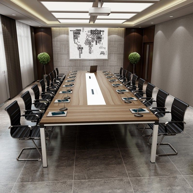 2017 Top Design Boardroom Office Furniture Wooden Gl Rectangular Conference Table Modern Meeting Counter