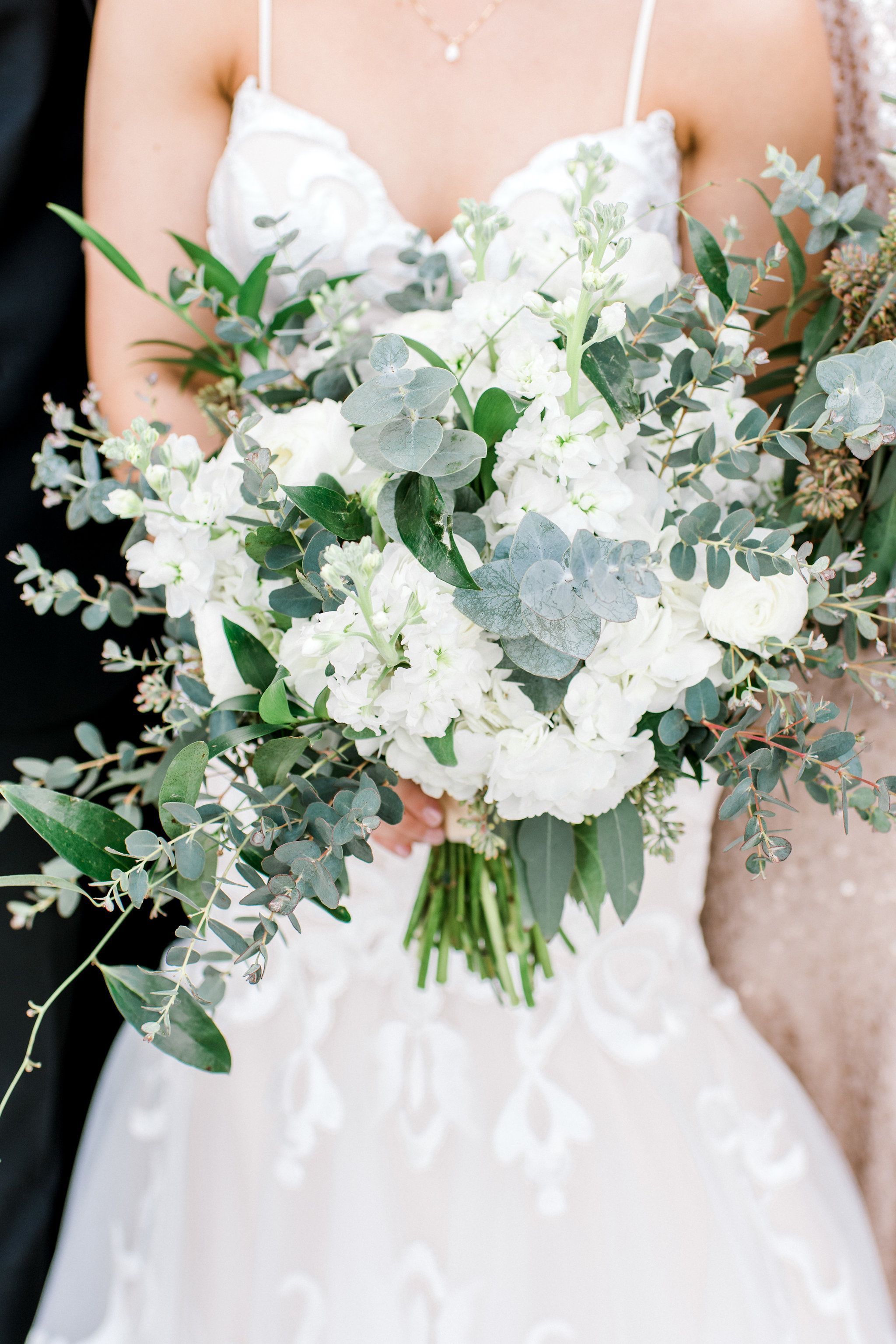 White and green bridal bouquet eric and jenn photography flowers