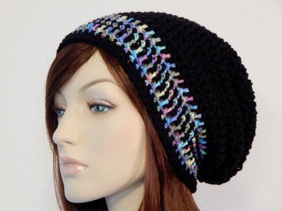 Teen Adult Pastel Black Slouch Hat 1d282d2d781