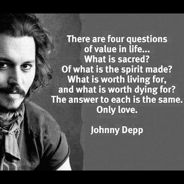 Johnny Depp Love Quotes Gorgeous Pinrosy Sommer On Quotes And Sayings To Feed My Soul  Pinterest