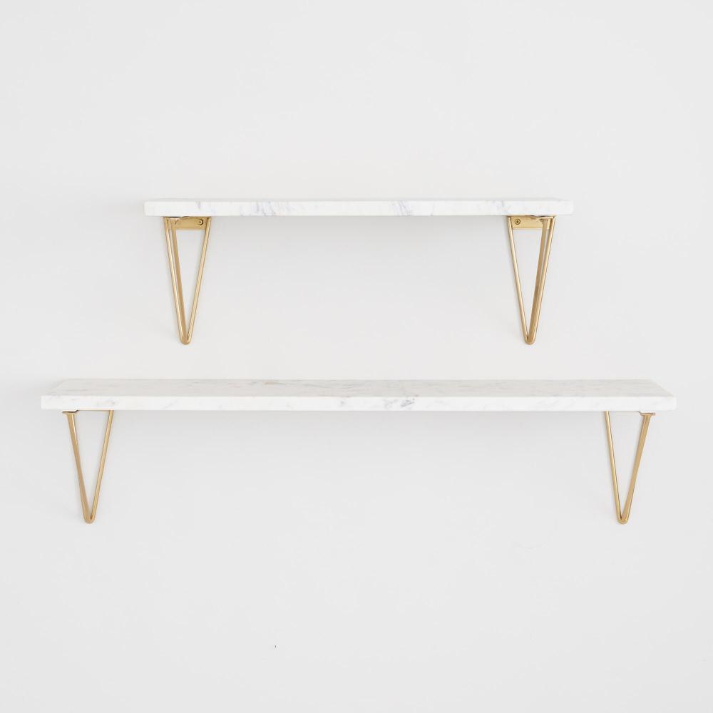 Geometric Gold Wire Mix Match Shelf Brackets Set Of 2 World Market Wall Shelves Bedroom White Wall Shelves Gold Shelves