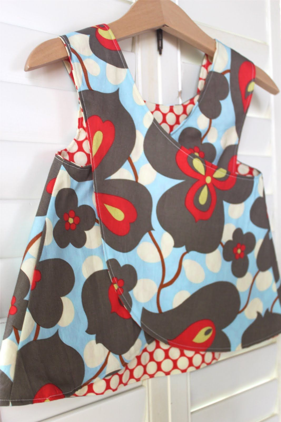 9bbb7712cc67 Little Girl s Crossover Pinafore Pattern  and Tutorial