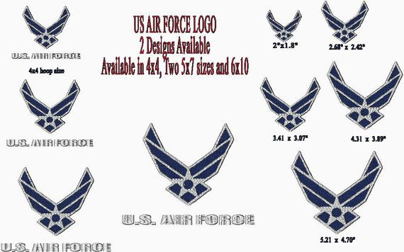 USAF Logo - Machine Embroidery Design - United States Air ...